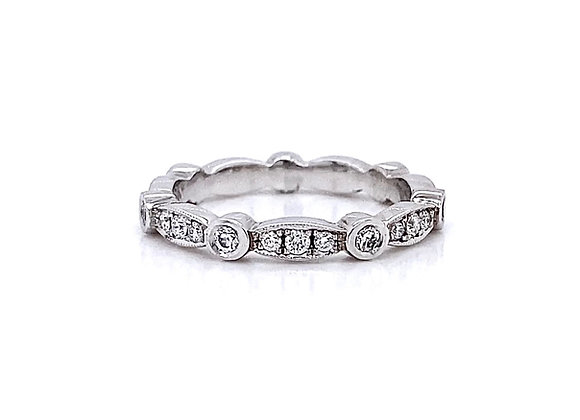 14kt White Gold 0.42ctw Round Diamond Band