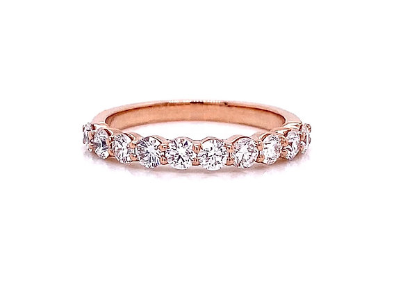 14kt Rose Gold 0.79ctw Round Diamond Band