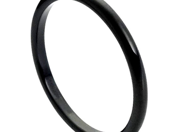 Black Tungsten High Polished Gents Band