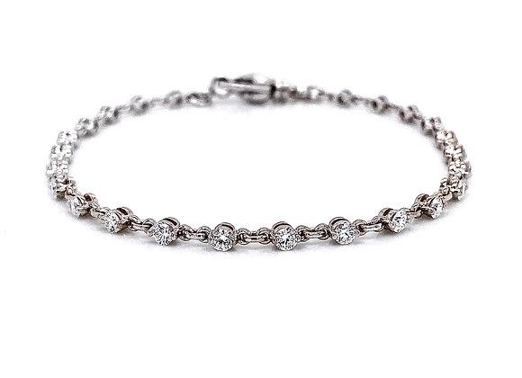 14kt White Gold 1.38ctw Round Diamond Bracelet