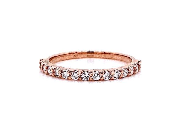 14kt Rose Gold 0.35ctw Round Diamond Band