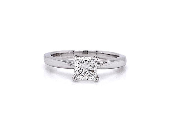 14kt White Gold 0.56ct Princess Cut Diamond Solitaire Ring