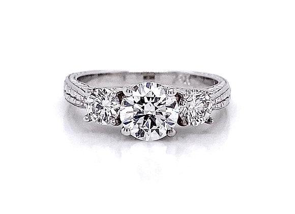 14kt White Gold 1.47ctw Round Diamond Ring