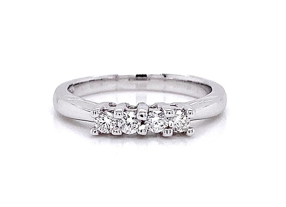 14kt White Gold 0.24ctw Round Diamond Band