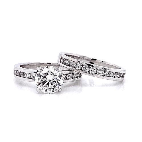 14kt White Gold 2.40ctw Round Diamond Ring