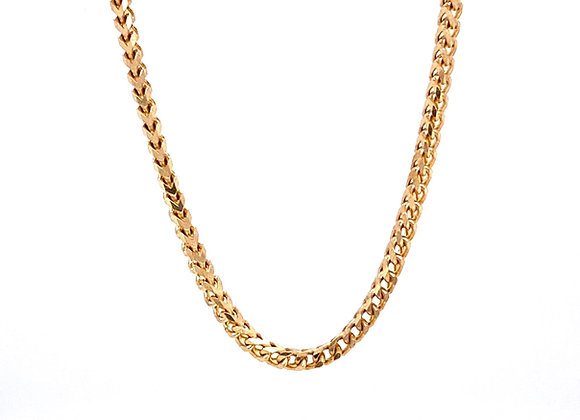 "14kt Yellow Gold 24"" 1.85mm Franco Link Chain"