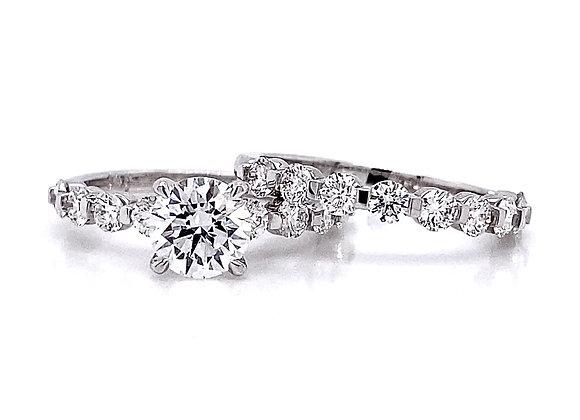 14kt White Gold 2.1ctw Round Diamond Wedding Set
