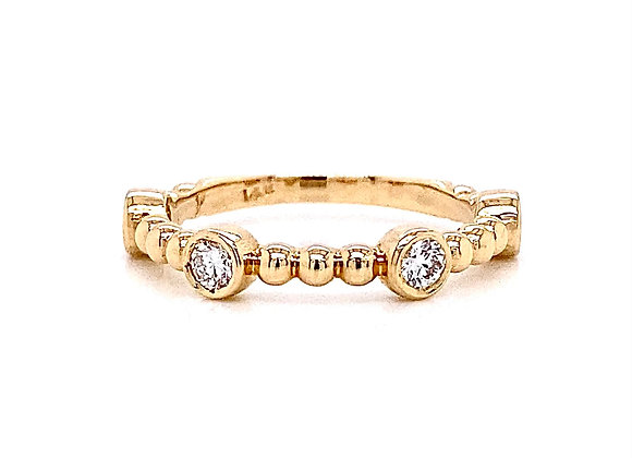 14kt Yellow Gold 0.27ctw Round Diamond Band
