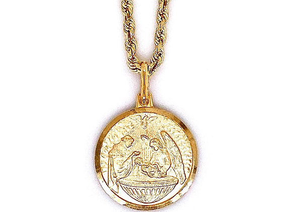 14kt Yellow Gold Baptism Pendant