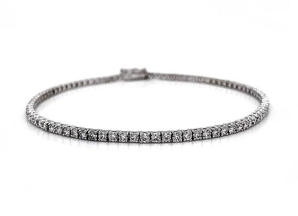 14kt White Gold 1.90ctw Round Diamond Bracelet