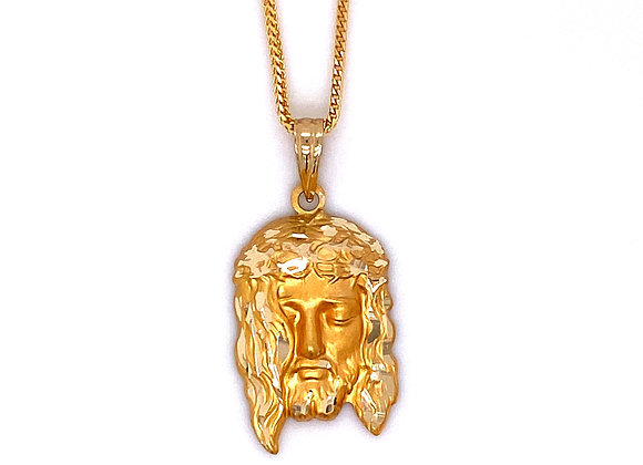 14kt Yellow Gold Jesus Pendant