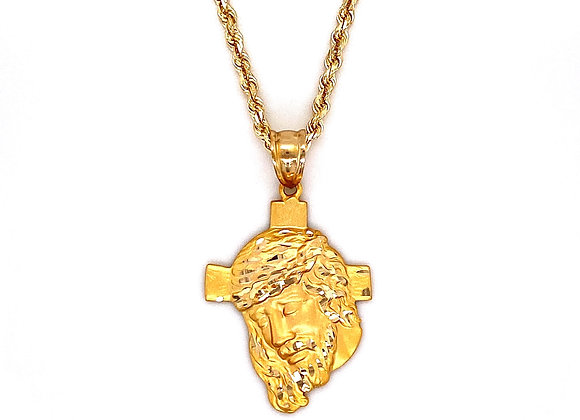 14kt Yellow Gold Jesus Cross Pendant