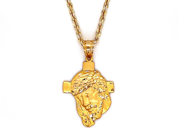 14kt Yellow Gold JesusCross Pendant