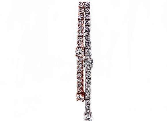 14kt Rose Gold 3.45ctw Dangle Earrings