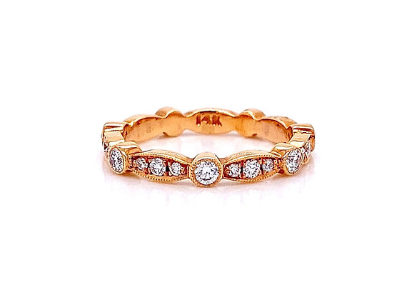 14kt Rose Gold 0.52ctw Round Diamond Band