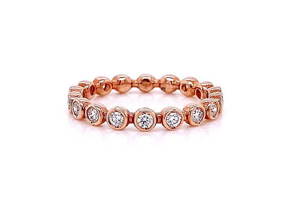 14kt Rose Gold 0.44ctw Round Diamond Band