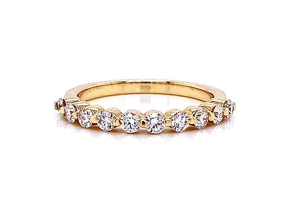 14kt Yellow Gold 0.53ctw Round Diamond Band