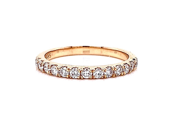 14kt Rose Gold 0.42ctw Round Diamond Band