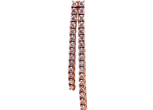 14kt Rose Gold 1.54ctw Dangle Earrings