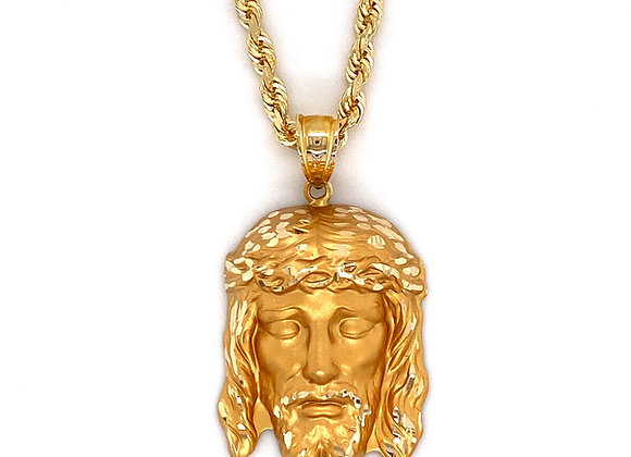 14kt Yellow Gold Jesus Pendant
