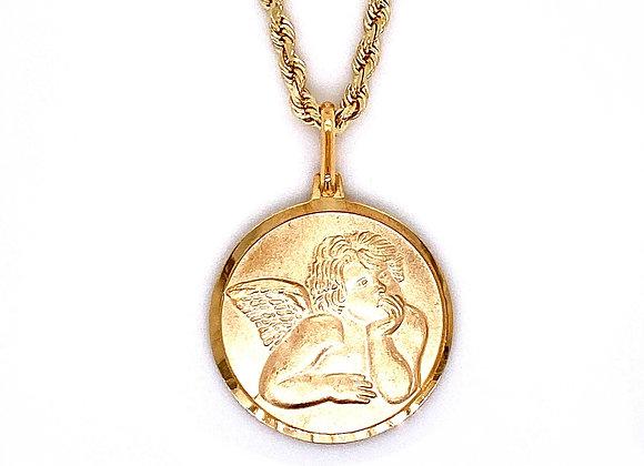 14kt Yellow Gold Angel Pendant