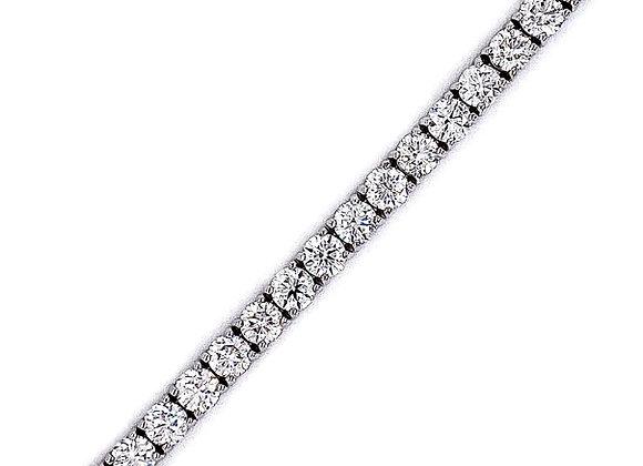 14kt White Gold 8.88ctw Round Diamond Tennis Bracelet