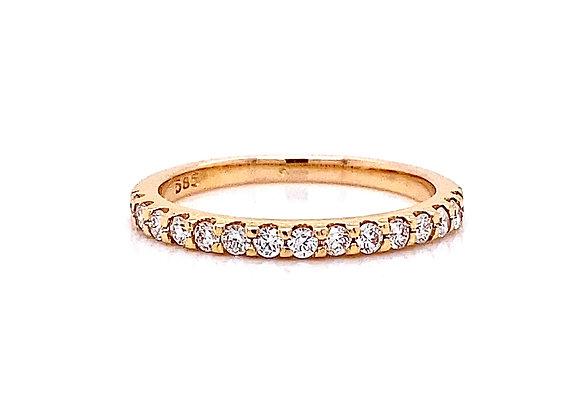14kt Rose Gold 0.32ctw Round Diamond Band