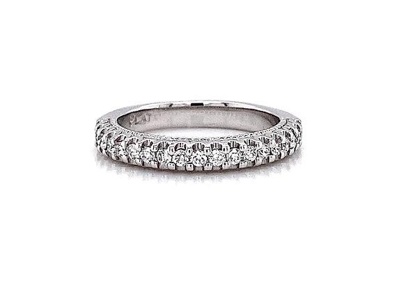 Platinum 0.23ctw Round Diamond Band