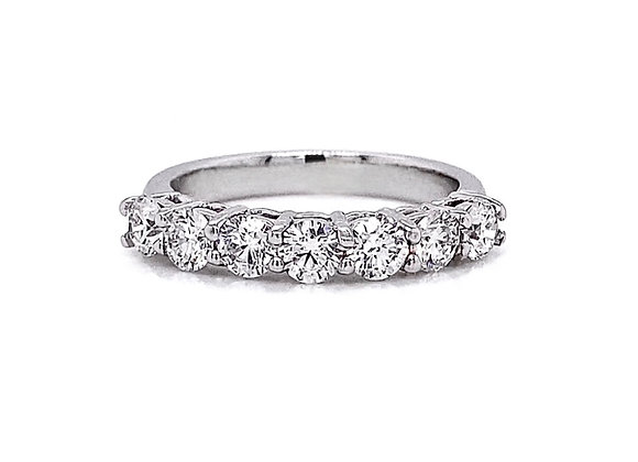 14kt White Gold 1.11ctw Round Diamond Band