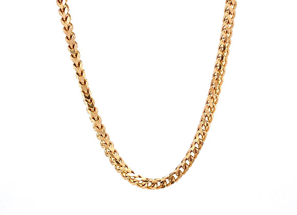 """14kt Yellow Gold 22"""" 1.85mm Franco Link Chain"""