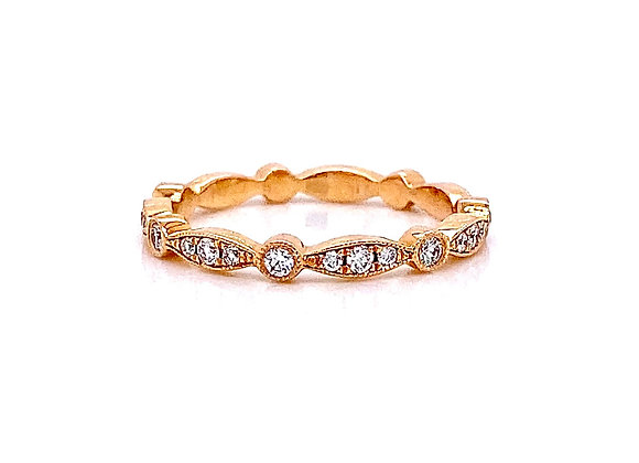 14kt Rose Gold 0.33ctw Round Diamond Band