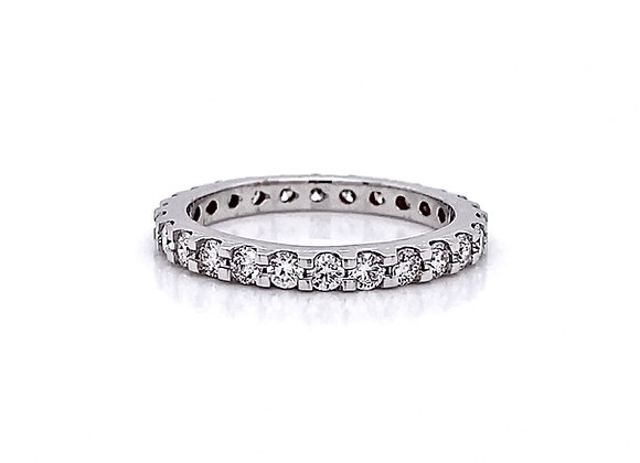 14kt White Gold 0.98ctw Round Diamond Band