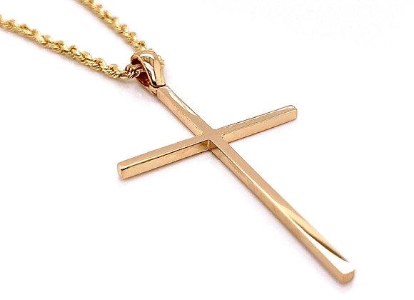 14kt Yellow Gold High Polished Cross Pendant