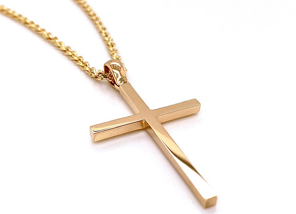 14kt Yellow Gold High Polished Cross Pendant