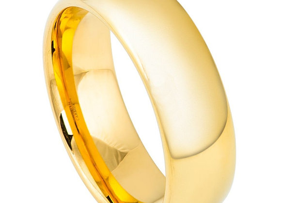 Gold Tungsten High Polished Gents Band