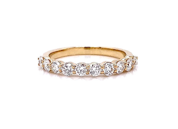 14kt Yellow Gold 0.79ctw Round Diamond Band