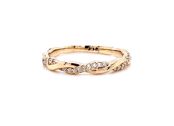 14kt Yellow Gold 0.16ctw Round Diamond Band