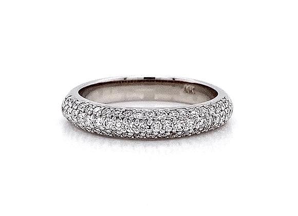 14kt White Gold 0.54ctw Round Diamond Band