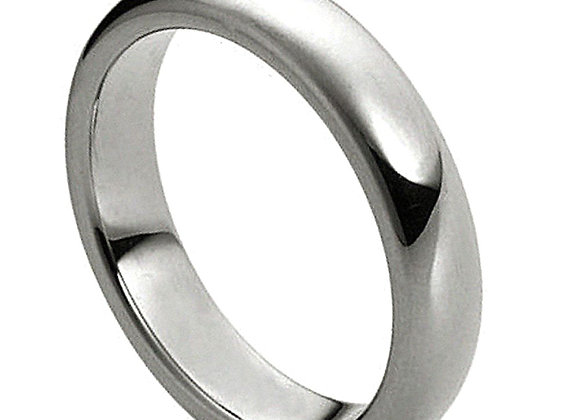 Gray Tungsten High Polished Domed Faceted Gents Band