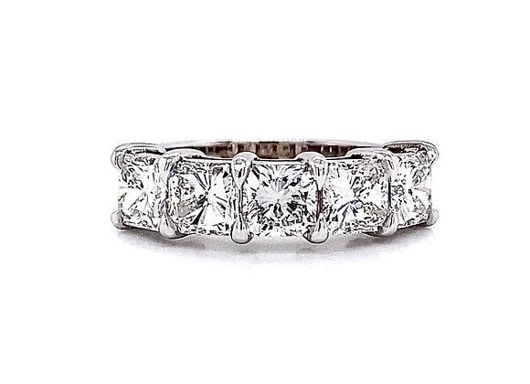 14kt White Gold 2.66ctw Radiant Cut Diamond Band