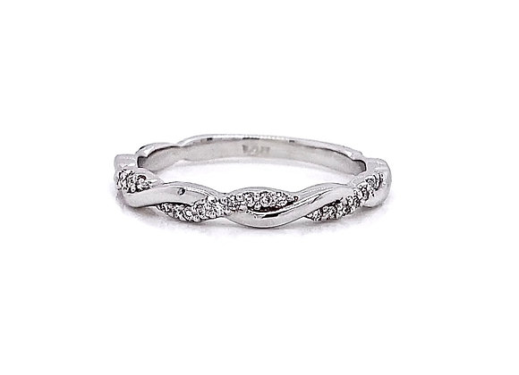 14kt White Gold 0.16ctw Round Diamond Band