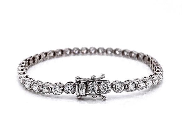 14kt White Gold 5.58ctw Round Diamond Tennis Bracelet