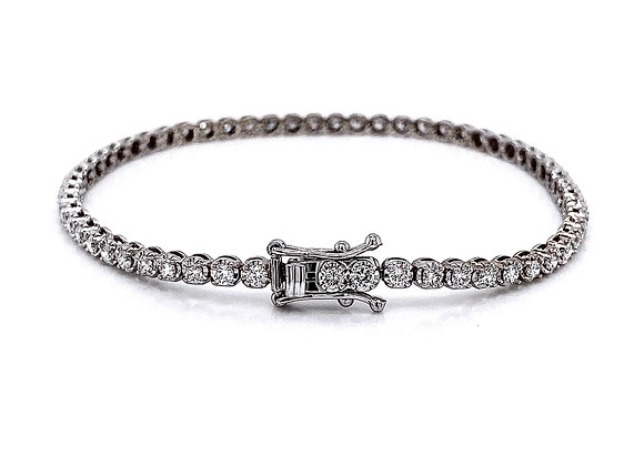 14kt White Gold 2.04ctw Round Diamond Bracelet