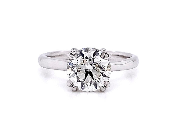 14kt White Gold 2.01ct Round Diamond Solitaire Ring