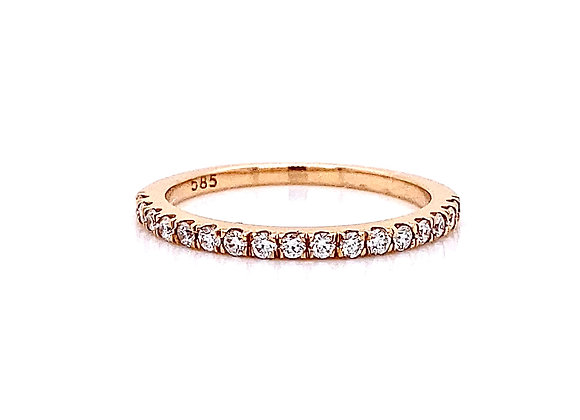 14kt Rose Gold 0.24ctw Round Diamond Band