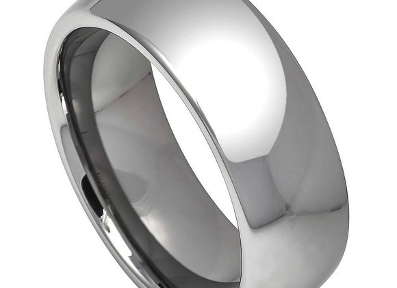 Gray Tungsten High Polished Domed Gents Band