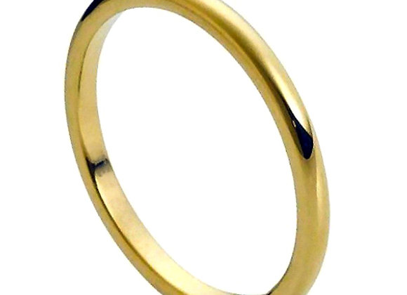 Yellow Tungsten High Polished Gents Band