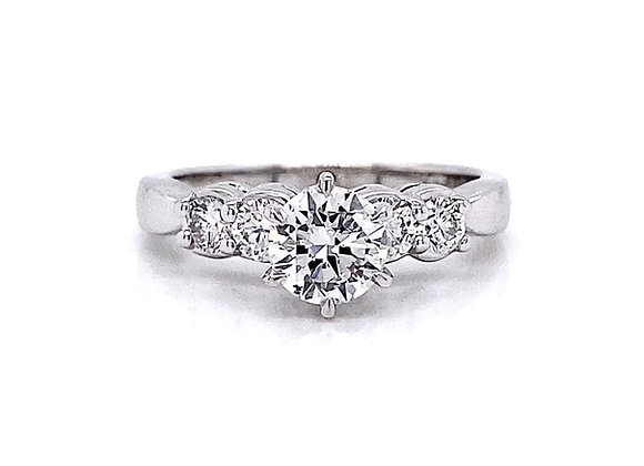 14kt White Gold 1.15ctw Round Diamond Ring