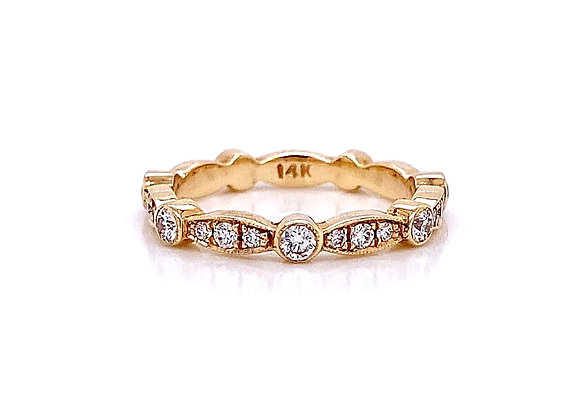14kt Yellow Gold 0.52ctw Round Diamond Band