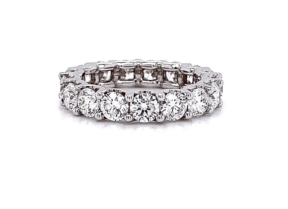 14kt White Gold 3.16ctw Round Diamond Band
